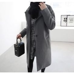 Miamasvin - Notched-Lapel Single-Breasted Coat