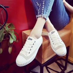 Yoflap - Faux-Leather Sneakers