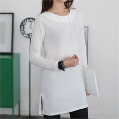CHICFOX - Round-Neck Long T-Shirt