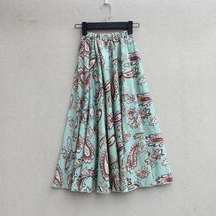 Flower Idea - Printed Maxi Skirt