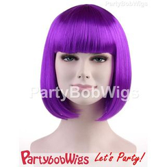 Party Wigs - PartyBobWigs - Party Short Bob Wig - Neon Purple