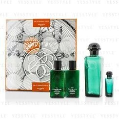 Hermes 愛馬仕 - DOrange Verte Coffret: Eau De Cologne Spray 100ml/3.3oz + Miniature 7.5ml/0.25oz + Bady Lotion 40ml/1.35oz + All Over Shampoo 40ml/1.35oz