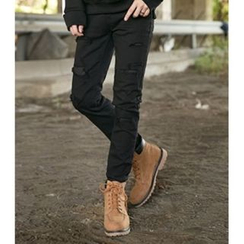 ABOKI - Distressed Slim-Fit Jeans