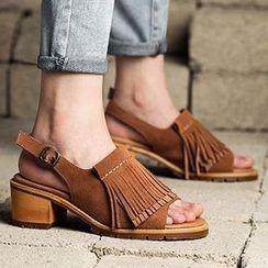 MIAOLV - 流苏高跟凉鞋