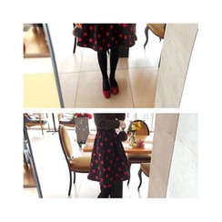 LEELIN - Dotted A-Line Skirt