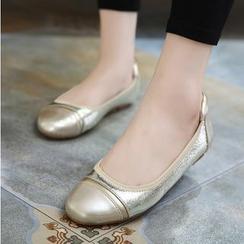 Monde - 閃亮拼接平跟鞋