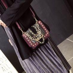 Rosanna Bags - Studded Color Panel Crossbody Bag
