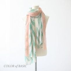 COLOR of BASIC - Patterned Scarf