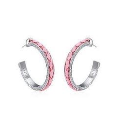伊泰蓮娜 - 仿皮施華洛世奇元素耳環