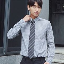 MITOSHOP - Pocket-Front Gingham Shirt
