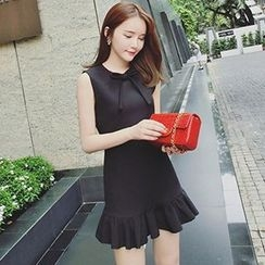 Ashlee - Ruffle Hem Sleeveless Dress