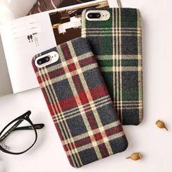 Kindtoy - Plaid Mobile Phone Case - Apple iPhone 6 / 6 Plus / 7 / 7 Plus