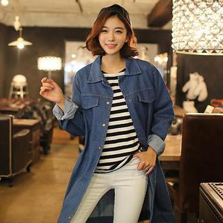 Envy Look - Snap-Button Denim Coat