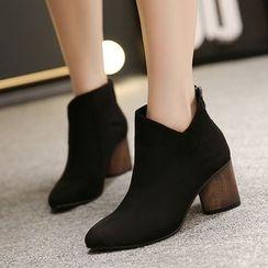 Monde - Velvet Ankle Boots