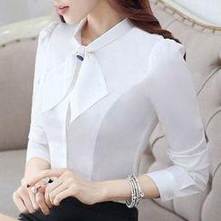 Eferu - 綴飾雪紡襯衫