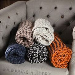 TOMONARI - Patterned Long Knit Scarf