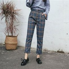 SUYISODA - Check Cropped Pants