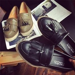 Hipsole - Faux-Leather Fringed Loafers