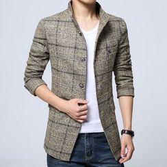 Jazz Boy - Plaid Button Coat