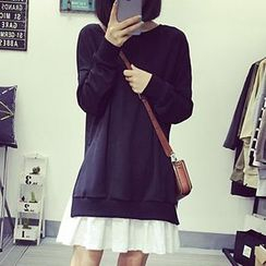 Fashion Street - Mock Two Piece Pullover Dress