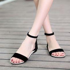 Shoes Galore - Lace Panel Sandals