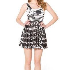Omifa - Bird-Print Sleeveless Dress