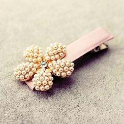 Suu - 仿珍珠花形发夹
