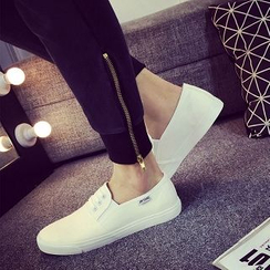 Solejoy - Lace-Up Couple Slip-On Sneakers