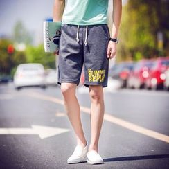 Bay Go Mall - Lettering Sweat Shorts