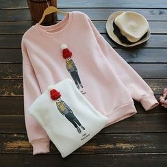 YOYO - 贴布绣印花套衫