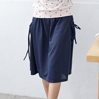RingBear - Drawstring Midi Skirt
