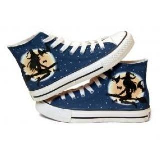 HVBAO - Painted Girl High-Top Canvas Sneakers