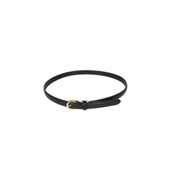 DABAGIRL - Croc-Grain Faux-Leather Belt
