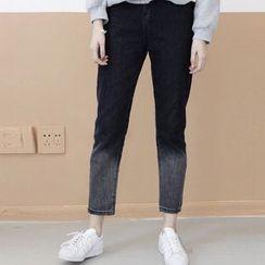 Dute - Gradient Cropped Jeans