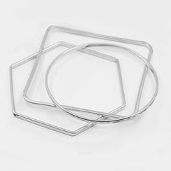 Zentangal - Set of 3: Geometric Bangle