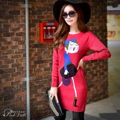Dabuwawa - Girl-Detail Long Sweater