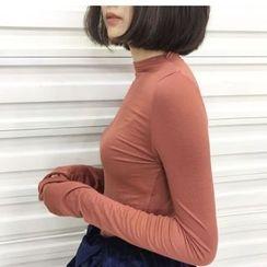 Oaksa - Long-Sleeve Plain T-Shirt