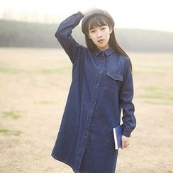 tete - Long-Sleeve Denim Dress