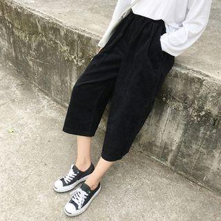 MePanda - Corduroy Wide Leg Pants