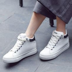 Renben - Platform High-top Fleece-lined Sneakers