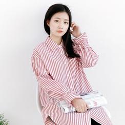 Forest Girl - 条纹衬衫连衣裙