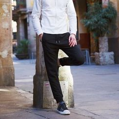 WOOD SOON - Drawstring Straight-Leg Pants