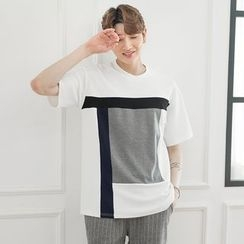 DANGOON - Short-Sleeve Color-Block T-Shirt