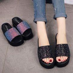 Sunsteps - Platform Slide Sandals