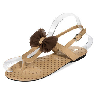 yeswalker - Tulle Bow-Accent T-Strap Sandals