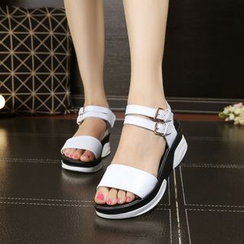 Hannah - Buckled Platform Sandals
