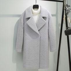 Alisha - Plain Notch Lapel Coat