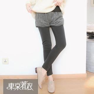 Tokyo Fashion - Inset Patterned Shorts Leggings