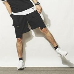 Mr.C studio - Asymmetrical Cargo Shorts