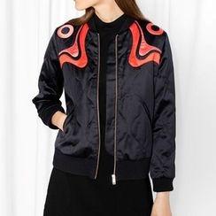Obel - Applique Bomber Jacket